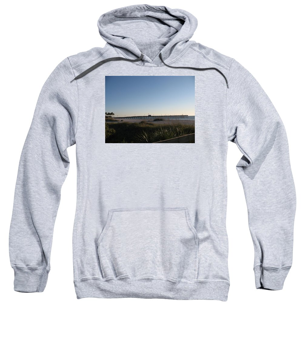 Pier Sweatshirt featuring the photograph Venice Beach Pier by Christiane Schulze Art And Photography