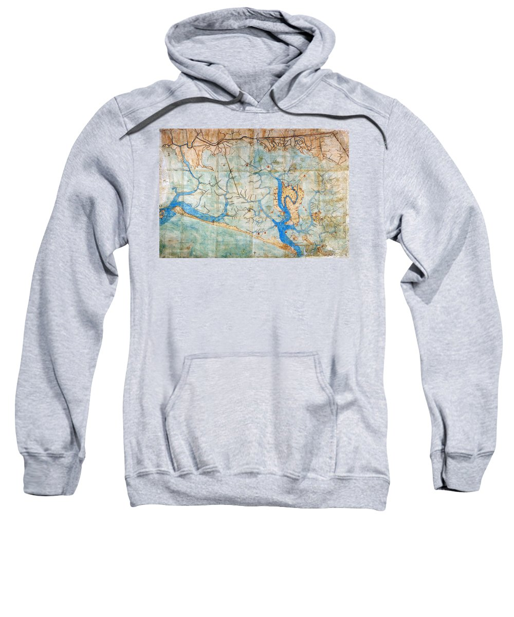 1546 Sweatshirt featuring the photograph Venice: Map, 1546 by Granger
