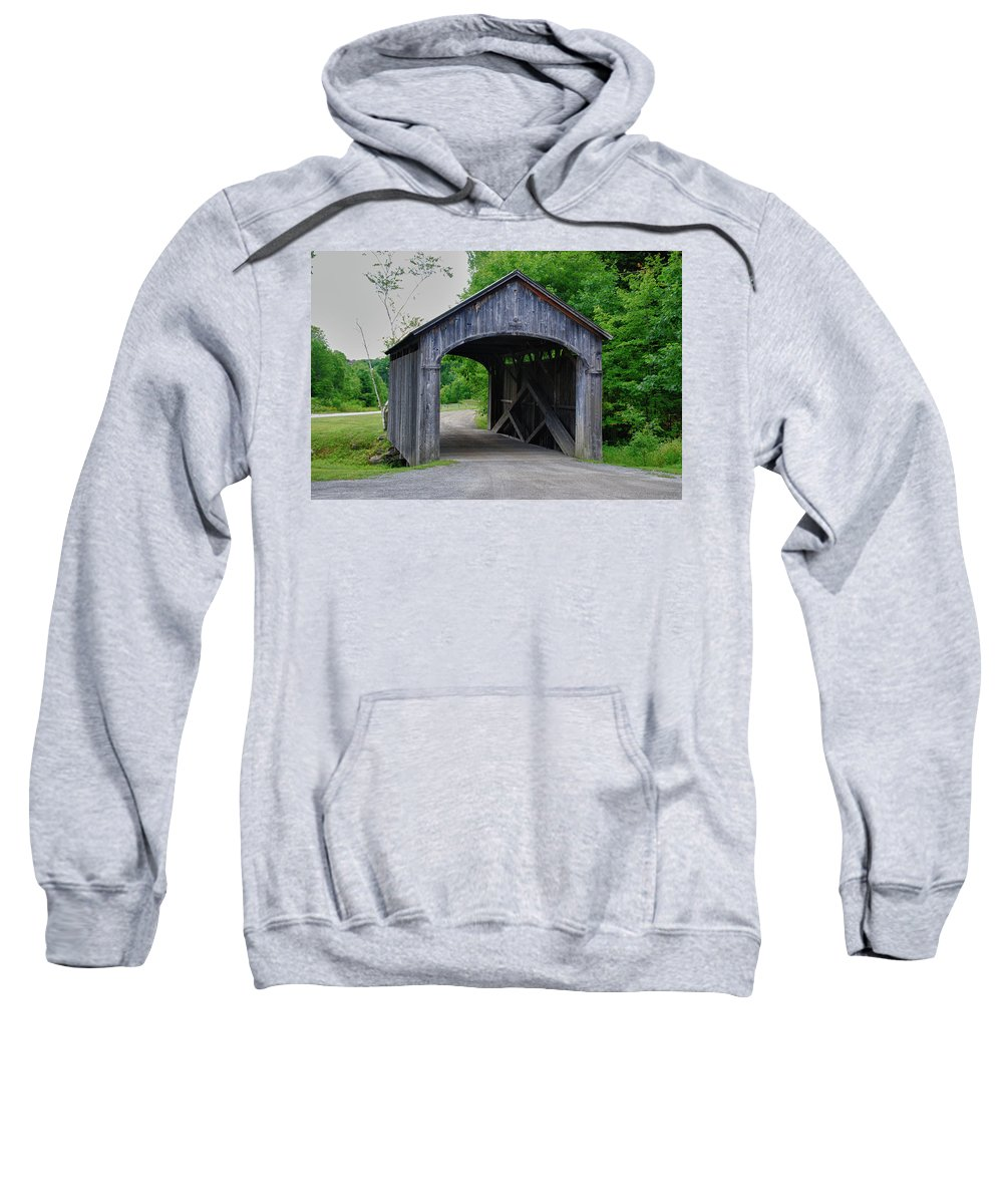 Covered Bridge Sweatshirt featuring the photograph Vermont Country Store 5656 by Guy Whiteley