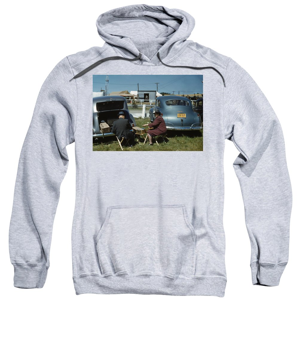 1941 Sweatshirt featuring the photograph Vermont State Fair, 1941 by Granger