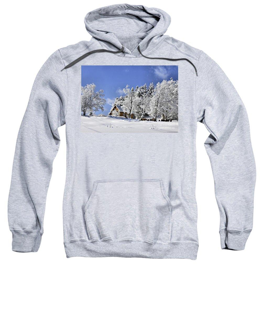 Winter Sweatshirt featuring the photograph Vermont Winter Beauty by Deborah Benoit