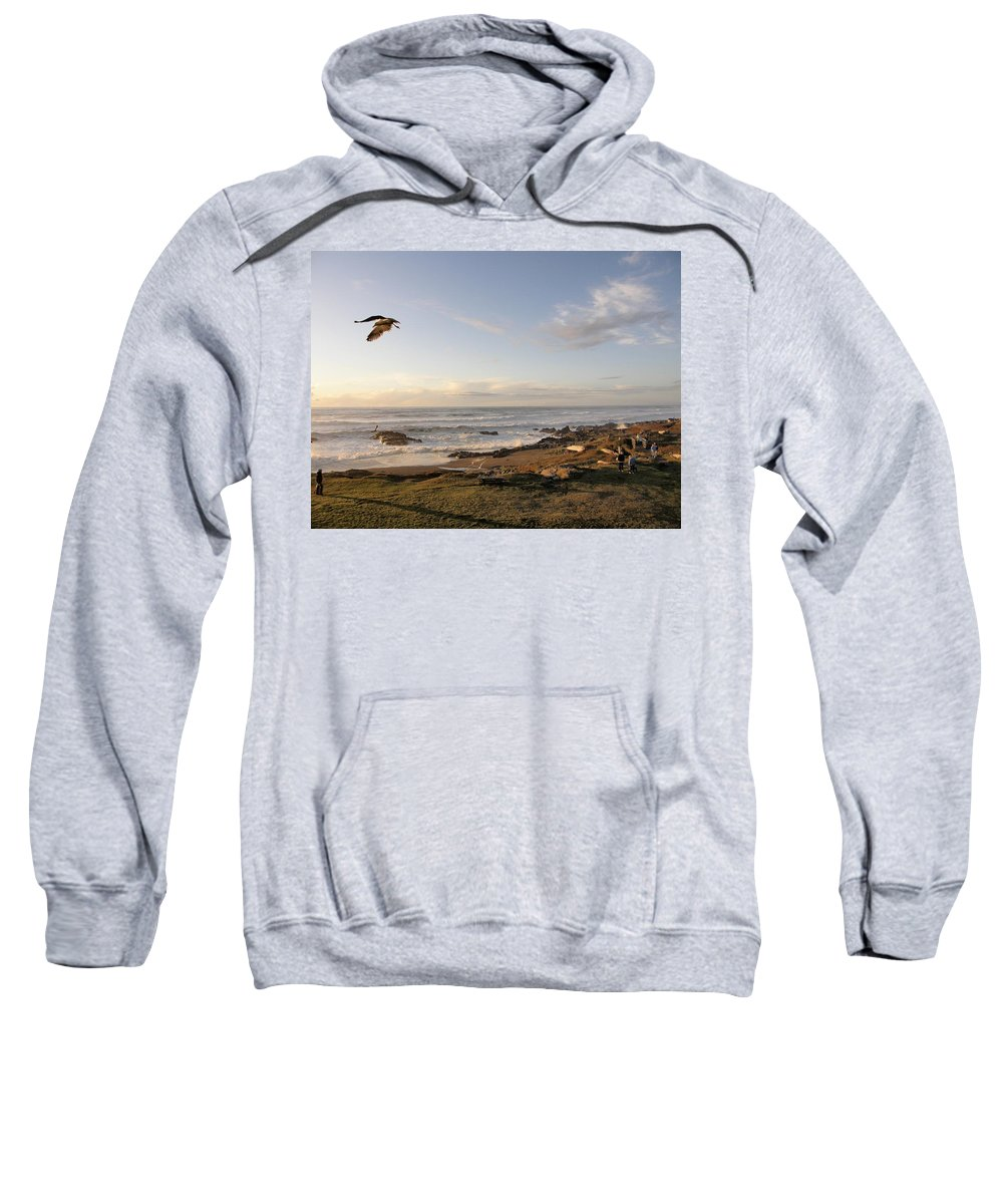 Yachats Sweatshirt featuring the photograph View From The Adobe by Image Takers Photography LLC