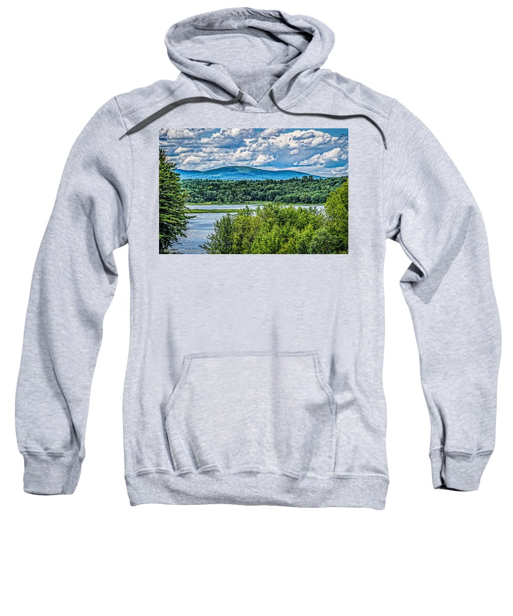 Photography Sweatshirt featuring the photograph View From The Dam by Nate Wilson