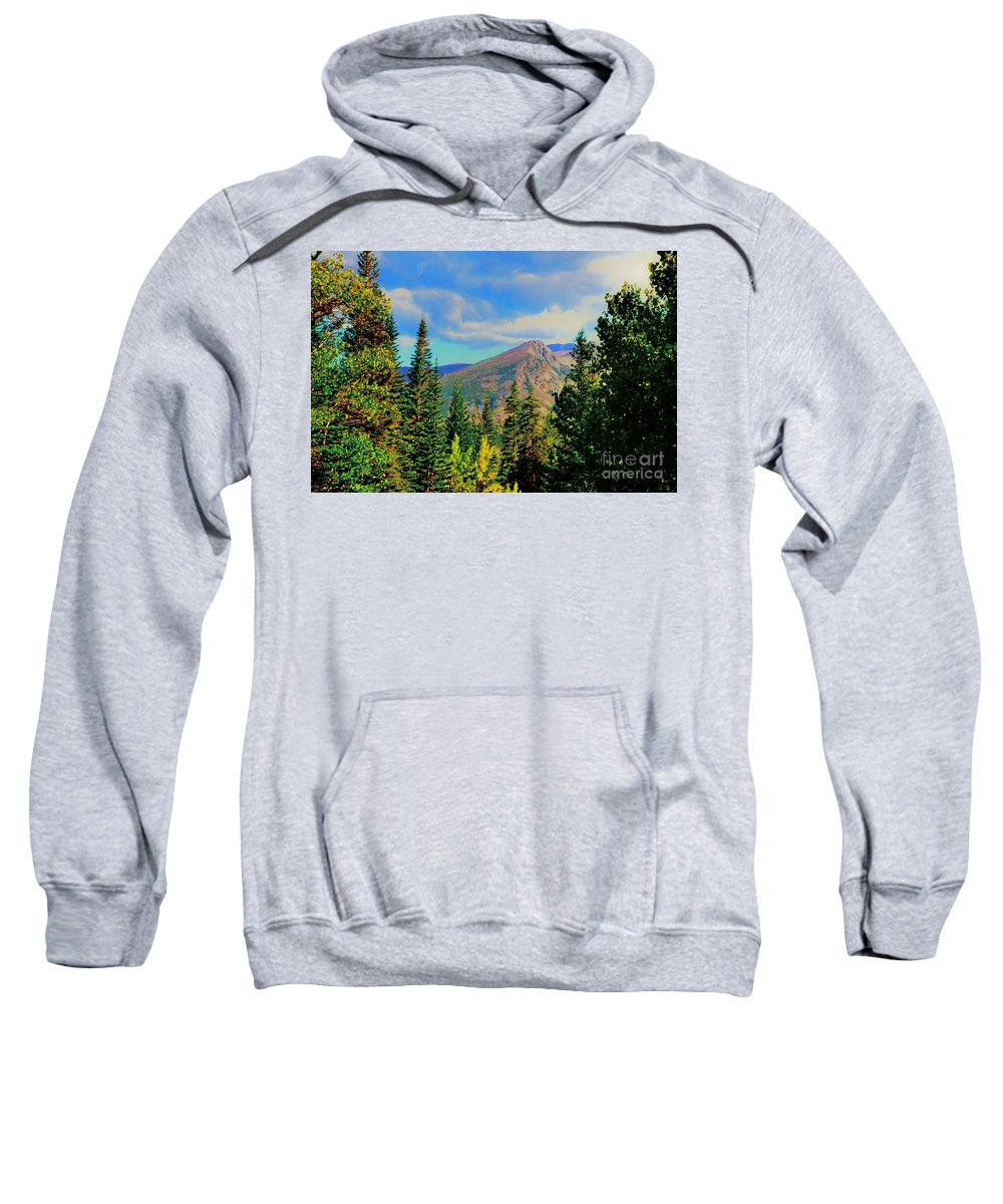 Blue Sweatshirt featuring the photograph View by Kathleen Struckle