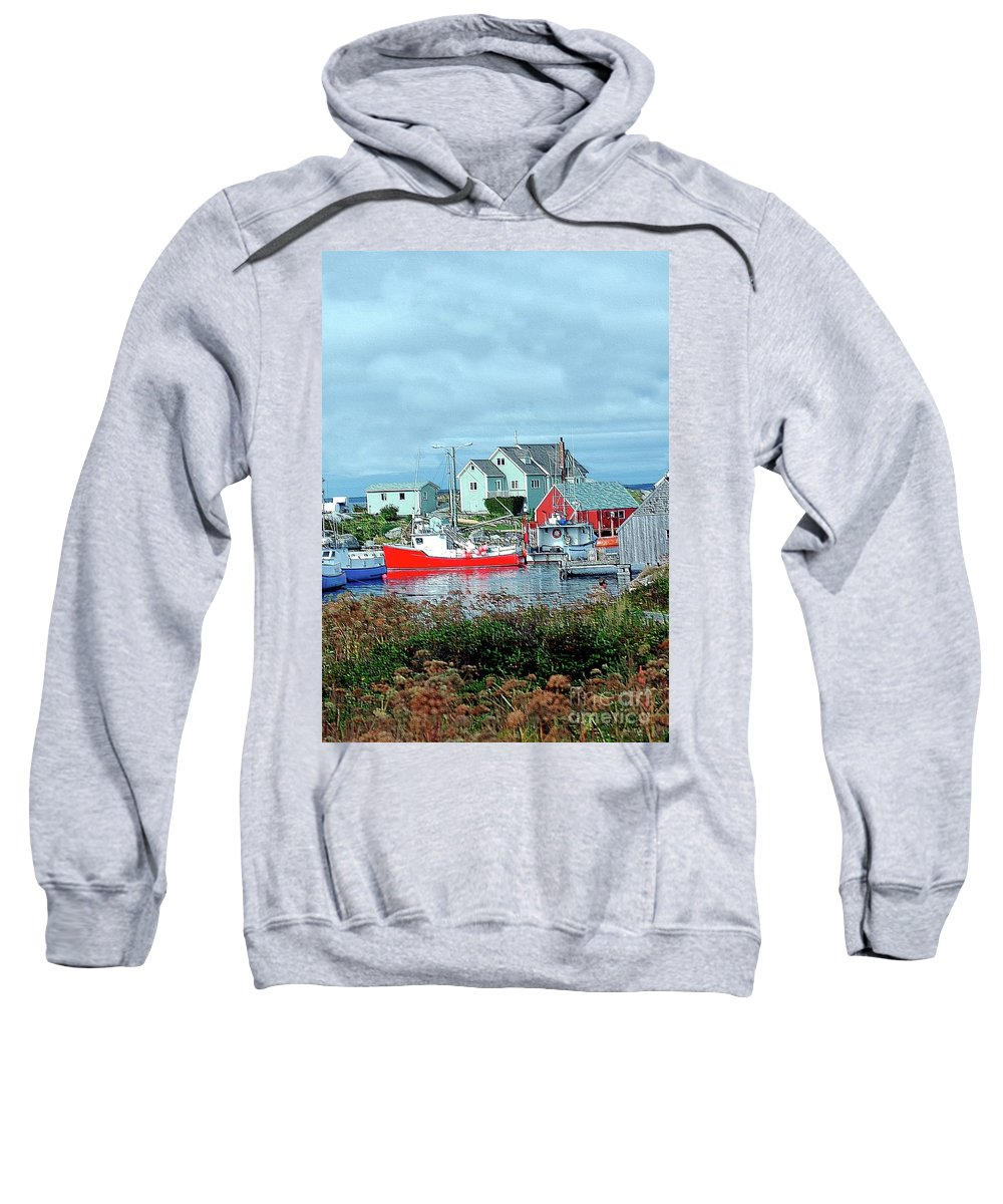 Boat Sweatshirt featuring the photograph View Of Cove by Kathleen Struckle