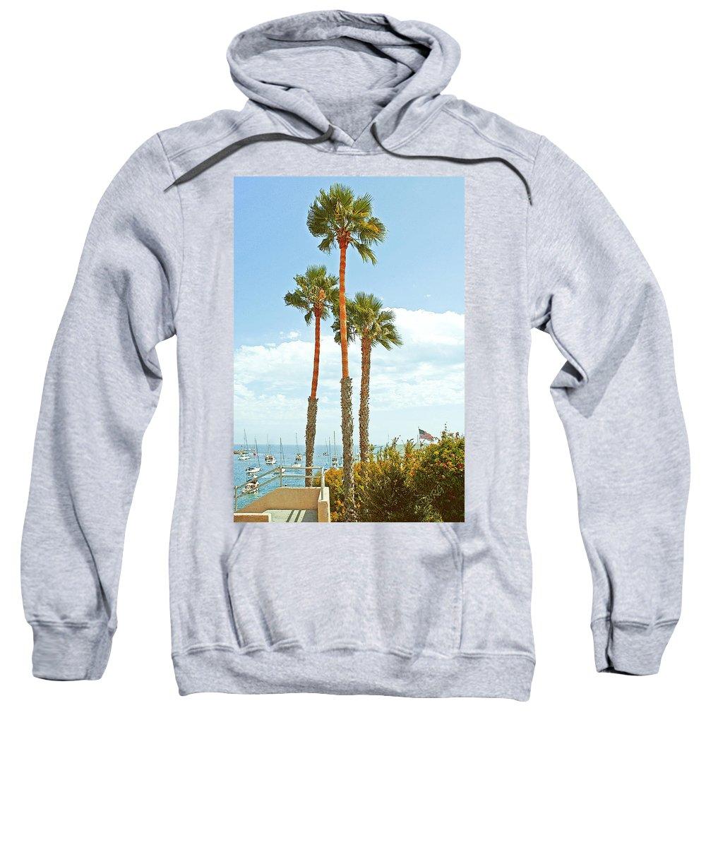 Marina Sweatshirt featuring the photograph View Of Marina by Ben and Raisa Gertsberg