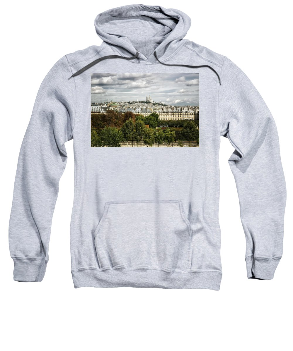 Sacre Coeur Sweatshirt featuring the photograph View Of Sacre Coeur From The Musee D'orsay by Belinda Greb