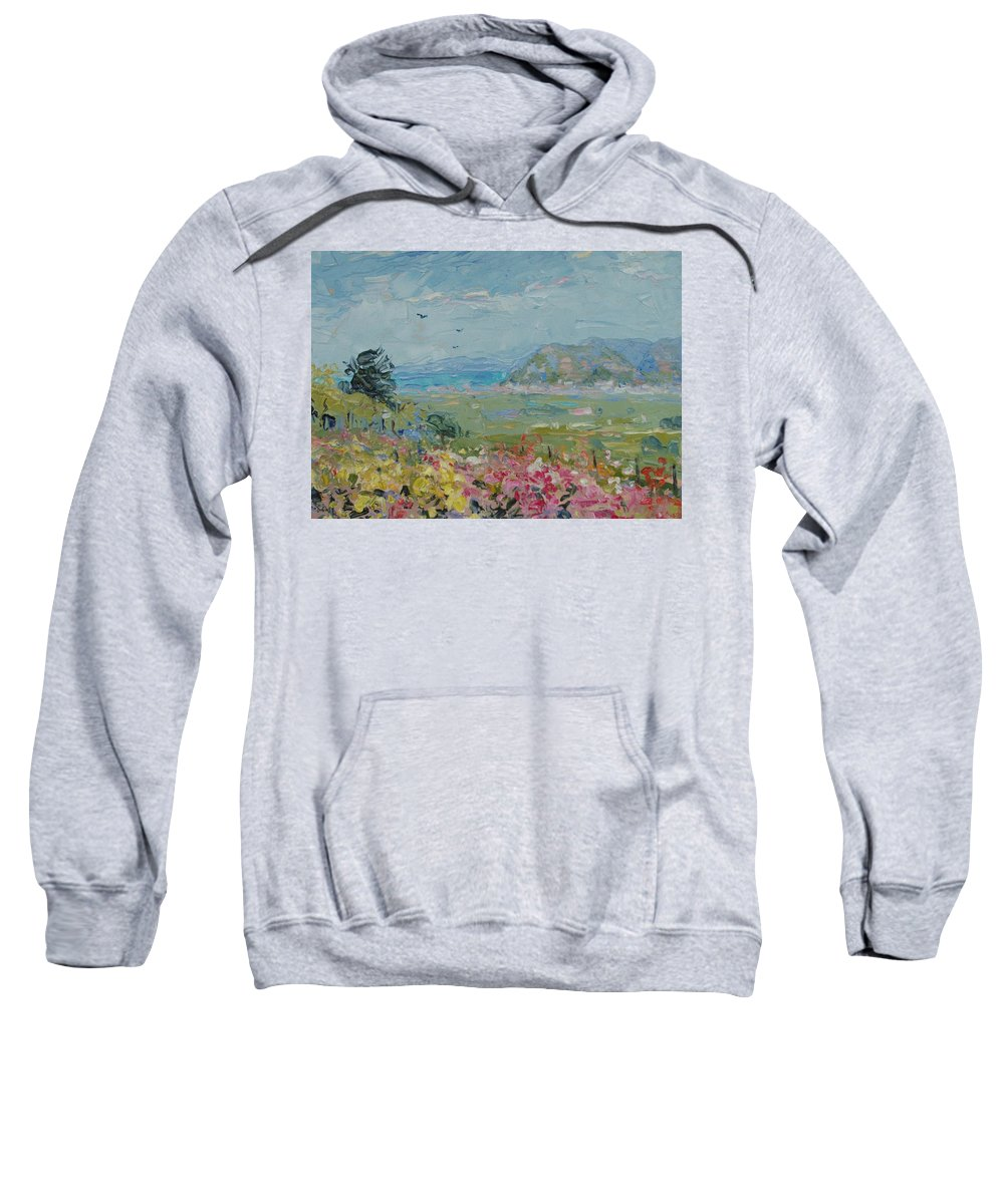 Landscape Sweatshirt featuring the painting View Towards Muizenberg by Elinor Fletcher