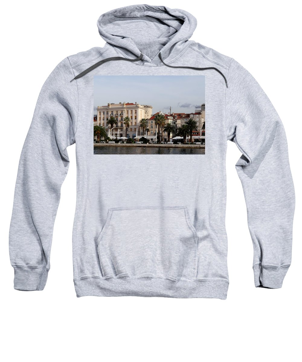 Mediterranean Sweatshirt featuring the photograph Views Of Split Croatia by Richard Rosenshein