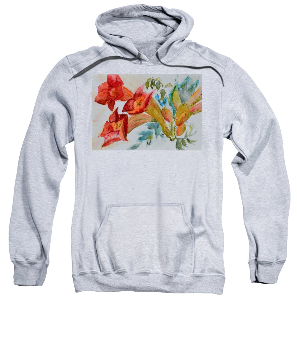Watercolor Sweatshirt featuring the painting Vigne Provincial by Beverley Harper Tinsley