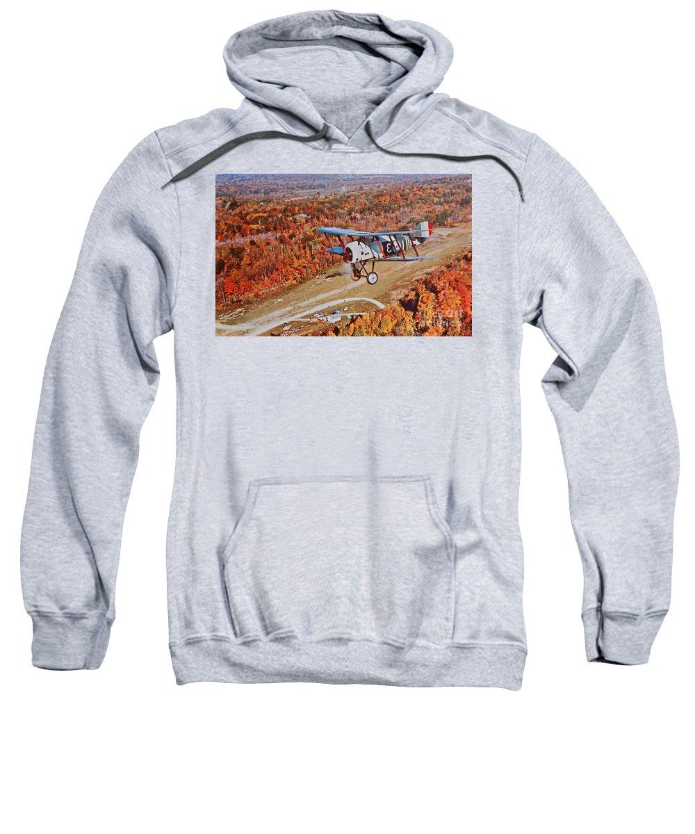 Vintage Sweatshirt featuring the photograph Vintage Airplane Postcard Art Prints by Valerie Garner