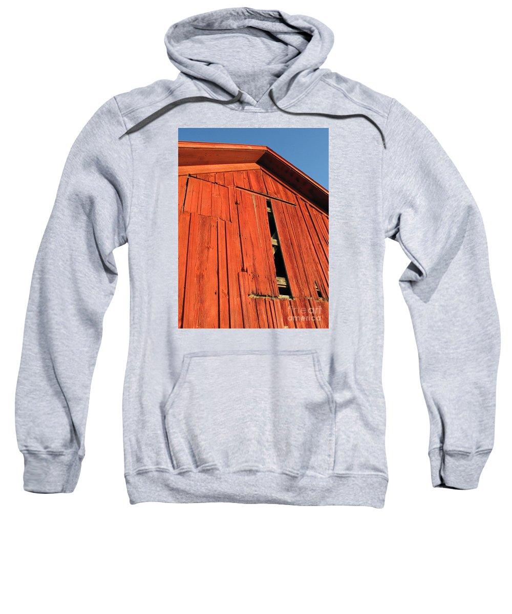 Barn Sweatshirt featuring the photograph Vintage Barn Aglow by Ann Horn