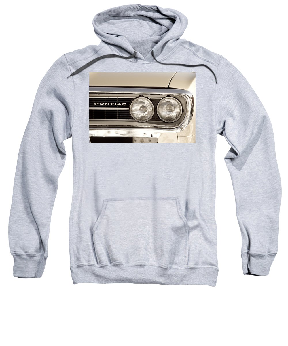Automobiles Sweatshirt featuring the photograph Vintage Pontiac Firebird 1967 Close Up by James BO Insogna