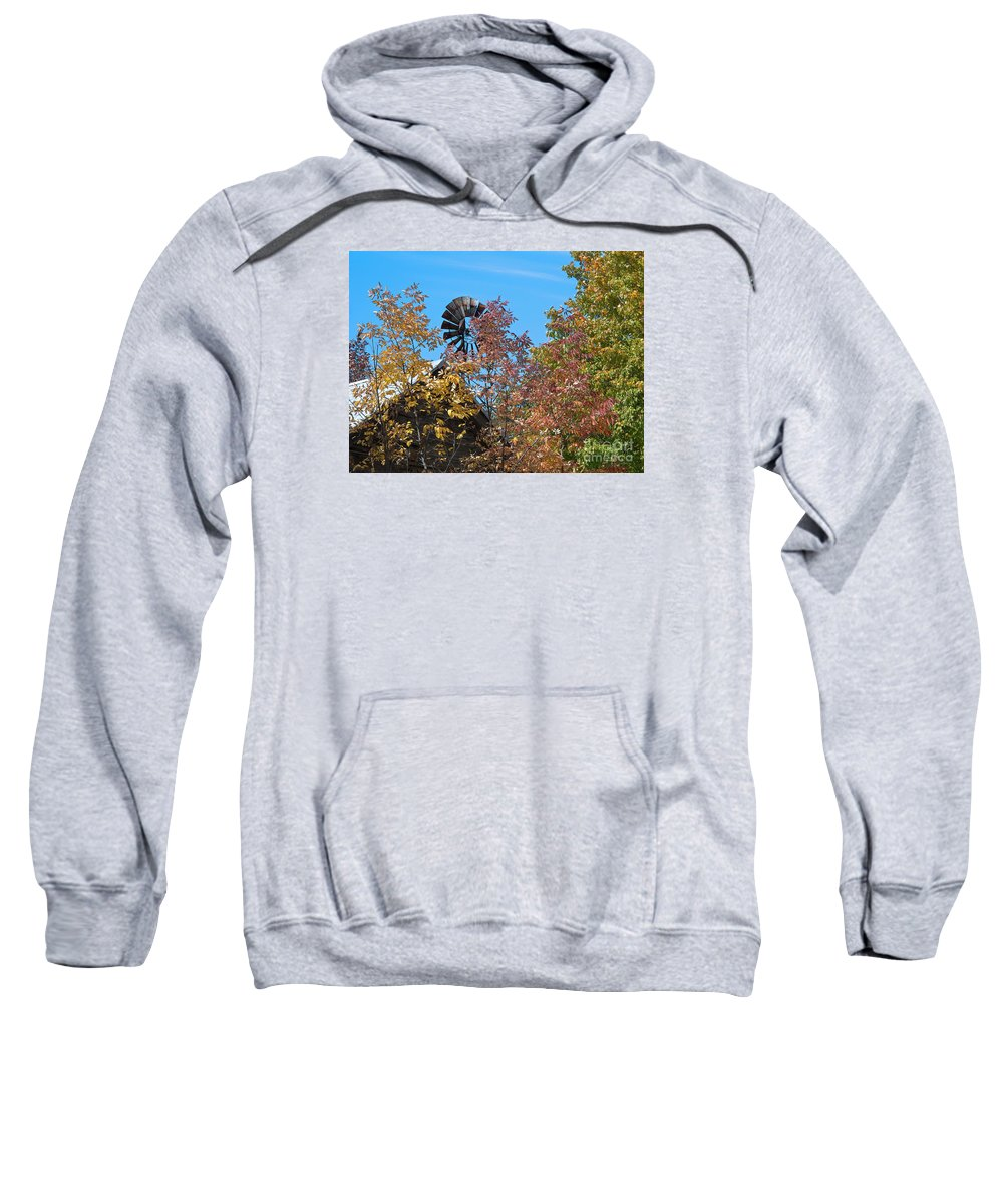 Windmill Sweatshirt featuring the photograph Vintage Wind Power by Ann Horn