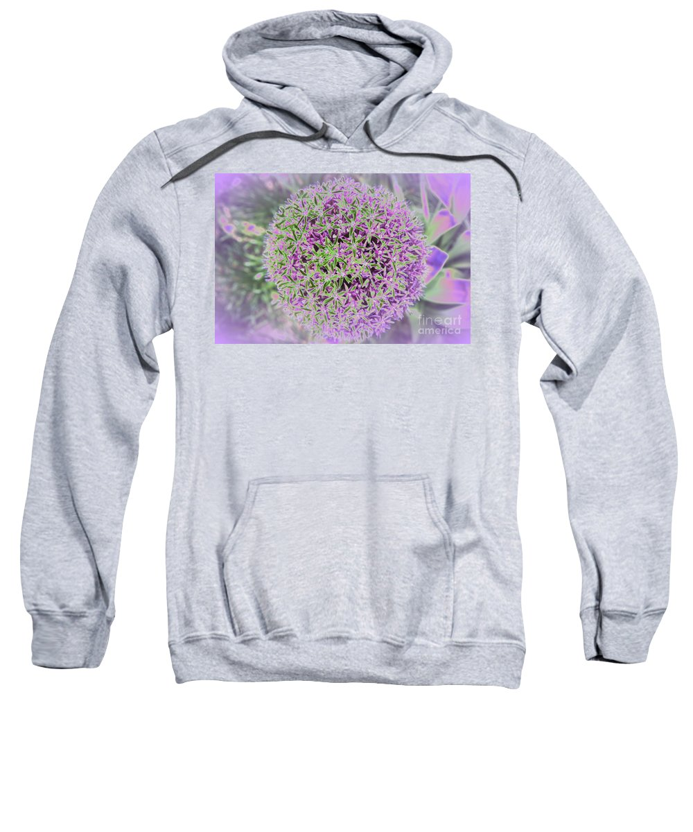 Flower Sweatshirt featuring the photograph Violet And Green by Christiane Schulze Art And Photography