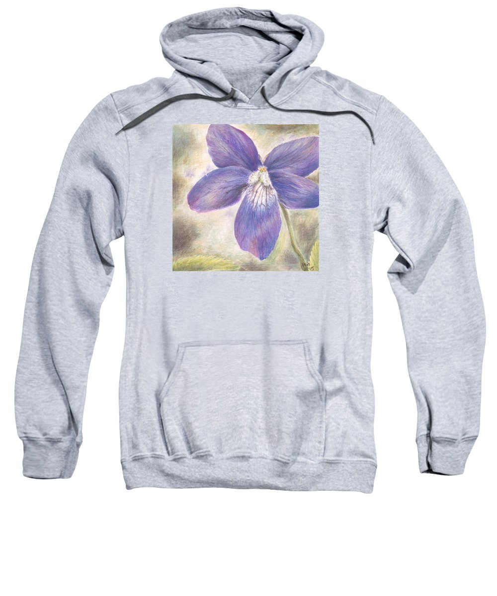 Flower Sweatshirt featuring the painting Violet by Pris Hardy