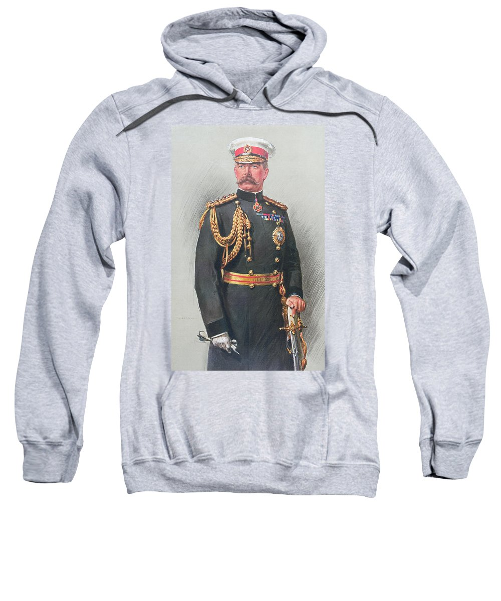 Male Sweatshirt featuring the painting Viscount Kitchener Of Khartoum by Walter Wallor Caffyn
