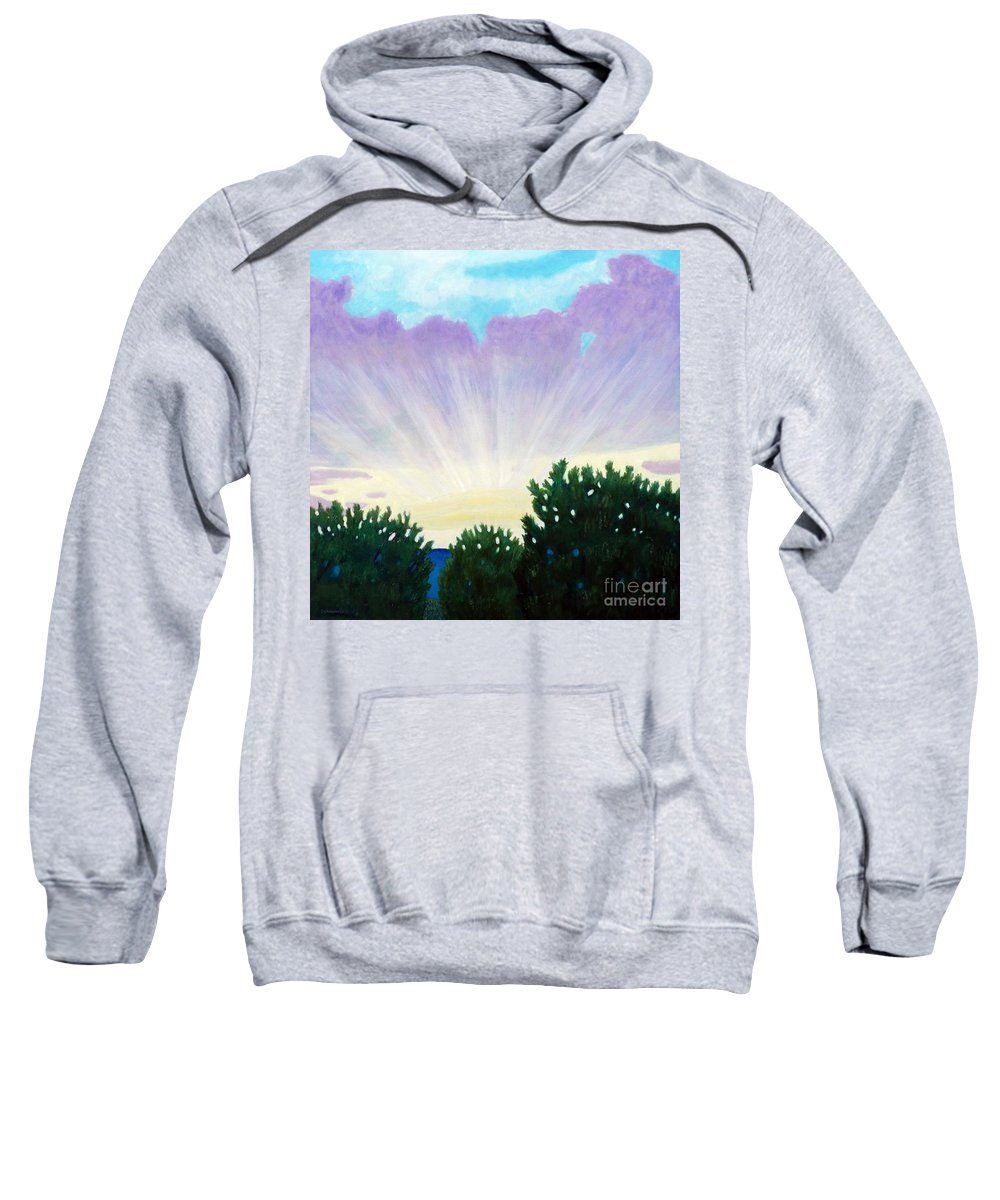 Skyscape Sweatshirt featuring the painting Visionary Sky by Brian Commerford