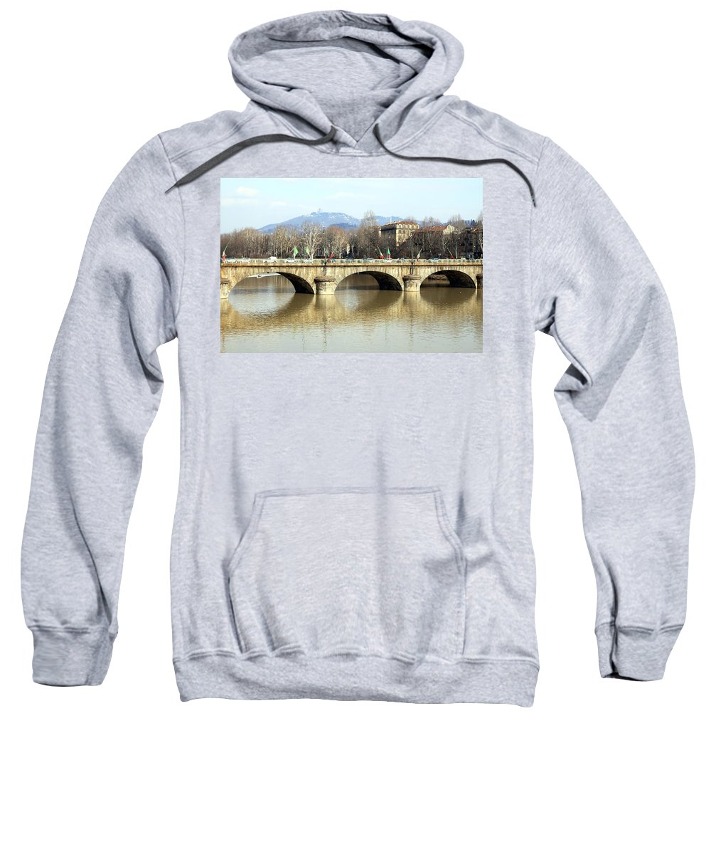 Landmark Sweatshirt featuring the photograph Vittorio Emanuele I Bridge by Valentino Visentini