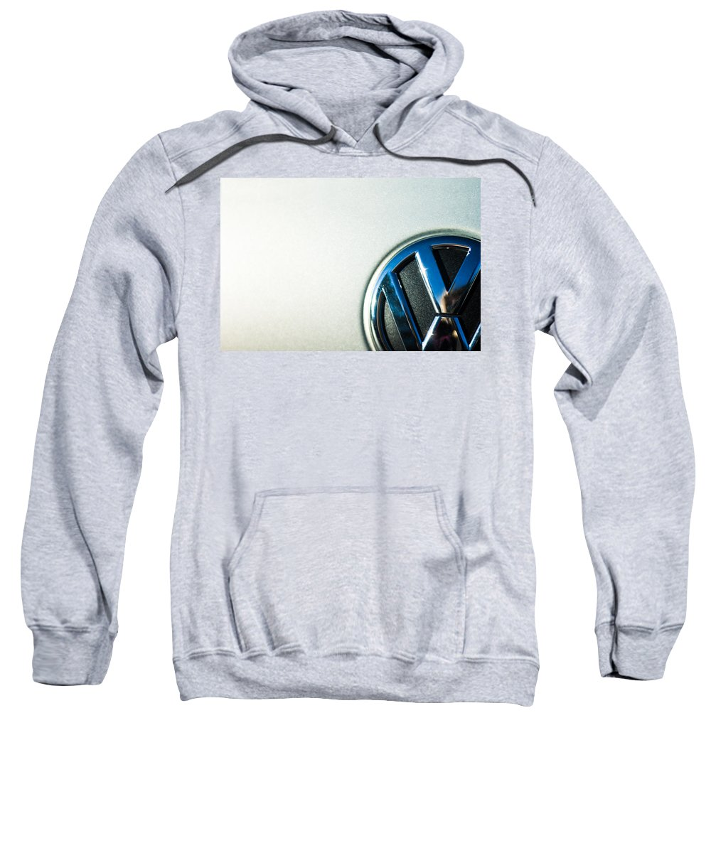 Reflection Sweatshirt featuring the photograph Vw Logo by Nicole Parks