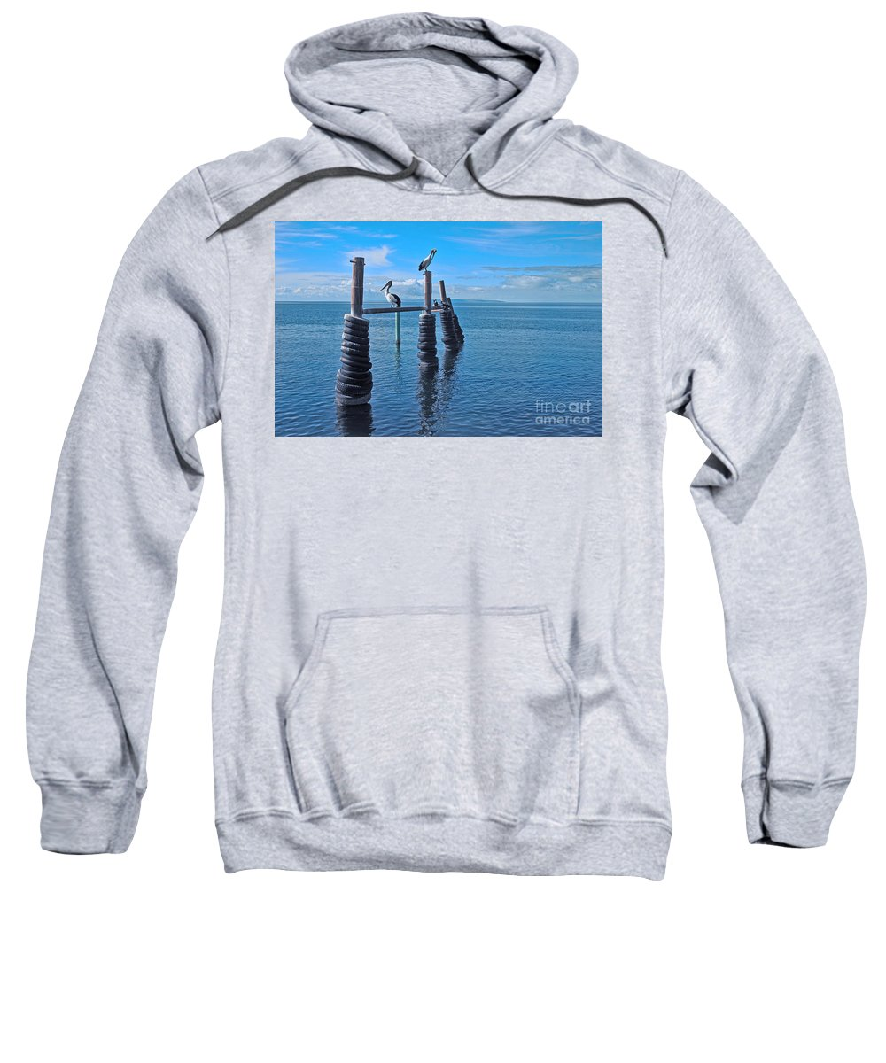 Sunset Sweatshirt featuring the photograph Waiting For Sunset by Stephen Mitchell