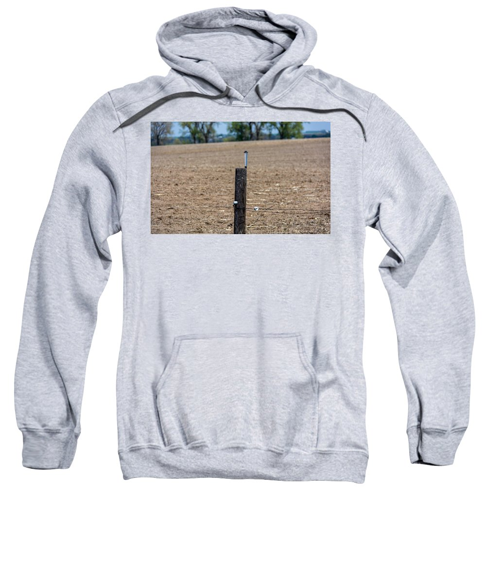 Fence Post Sweatshirt featuring the photograph Waiting For The Rain by M Dale