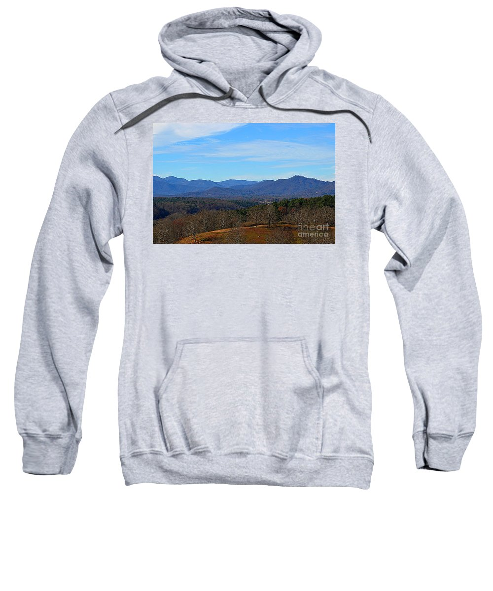 Waiting For Winter In The Blue Ridge Mountains Sweatshirt featuring the photograph Waiting For Winter In The Blue Ridge Mountains by Luther Fine Art