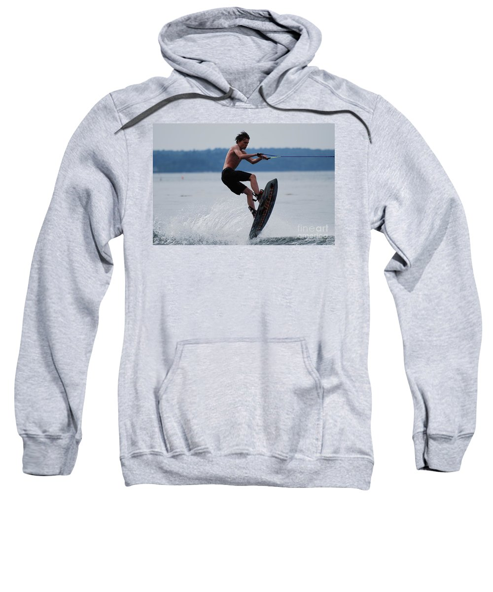 Wakeboard Sweatshirt featuring the photograph Wakeboarder by DejaVu Designs