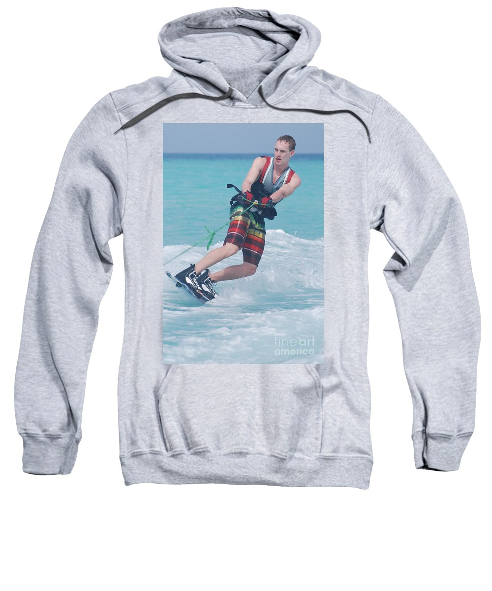 Wakeboarding Sweatshirt featuring the photograph Wakeboarding Style by DejaVu Designs