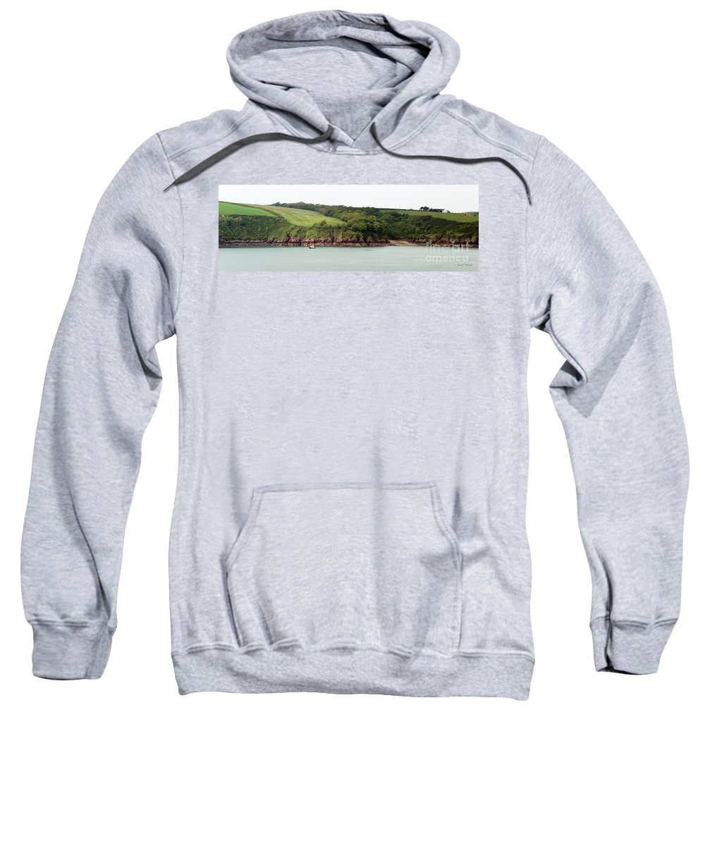 Wales Sweatshirt featuring the photograph Wales Coastline Panorama by Jack Schultz