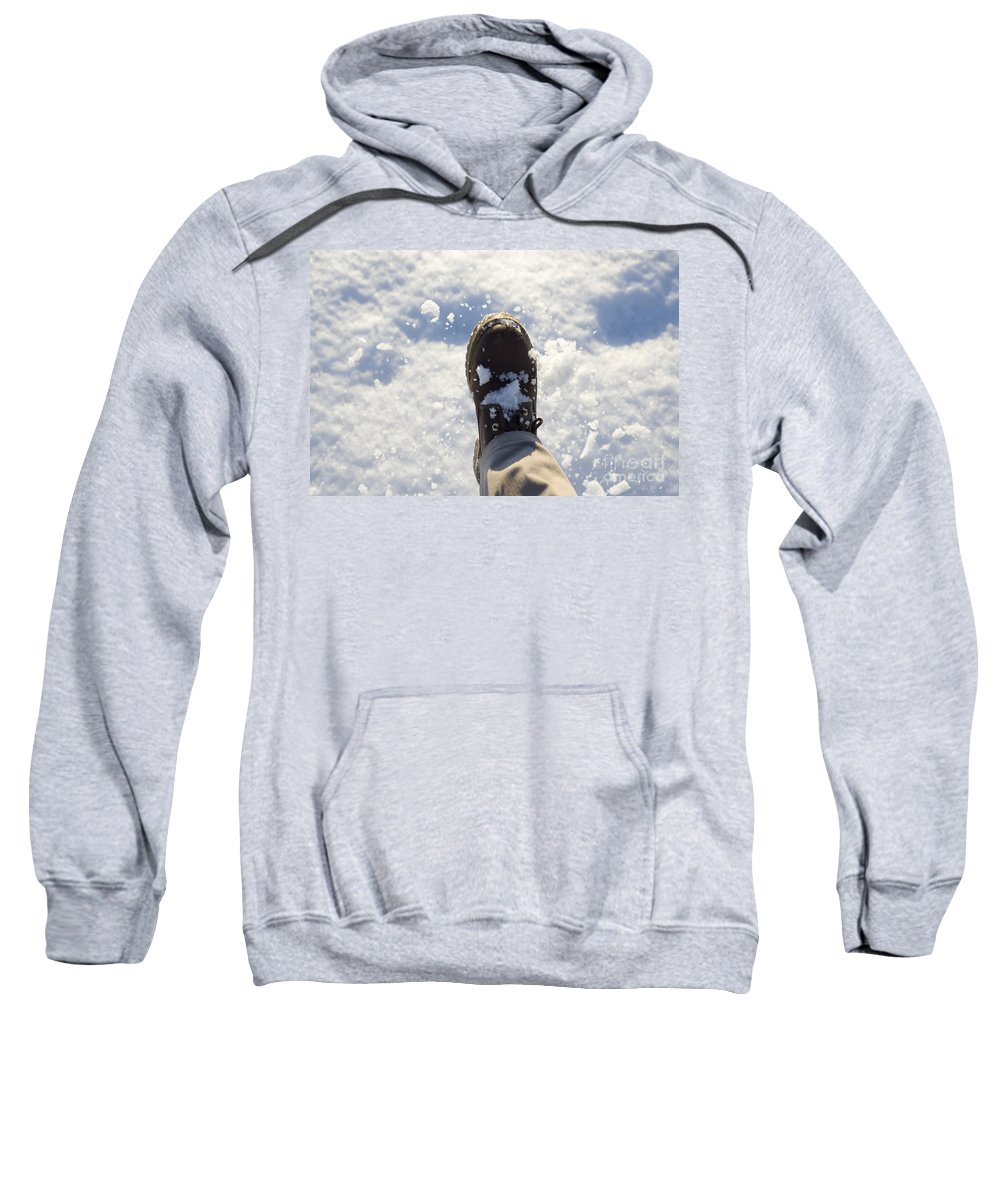 Snow Sweatshirt featuring the photograph Walking In The Snow by Mats Silvan