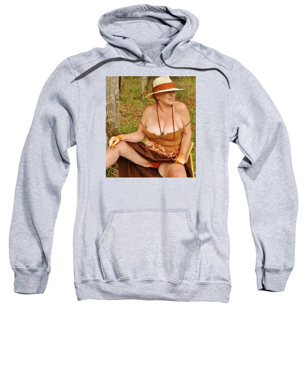 Portrait Sweatshirt featuring the photograph Warm October by VLee Watson