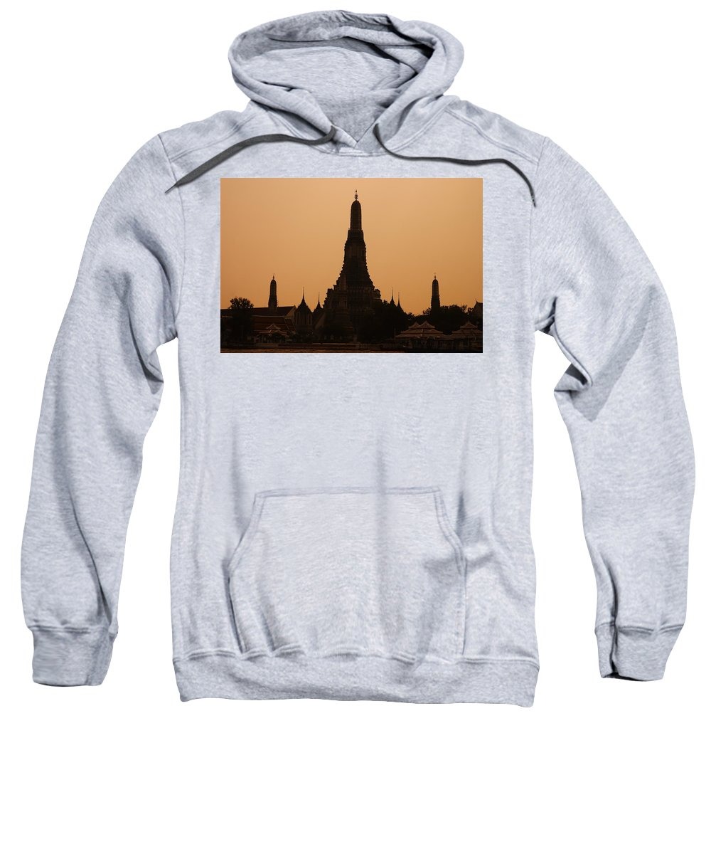 3scape Photos Sweatshirt featuring the photograph Wat Arun by Adam Romanowicz