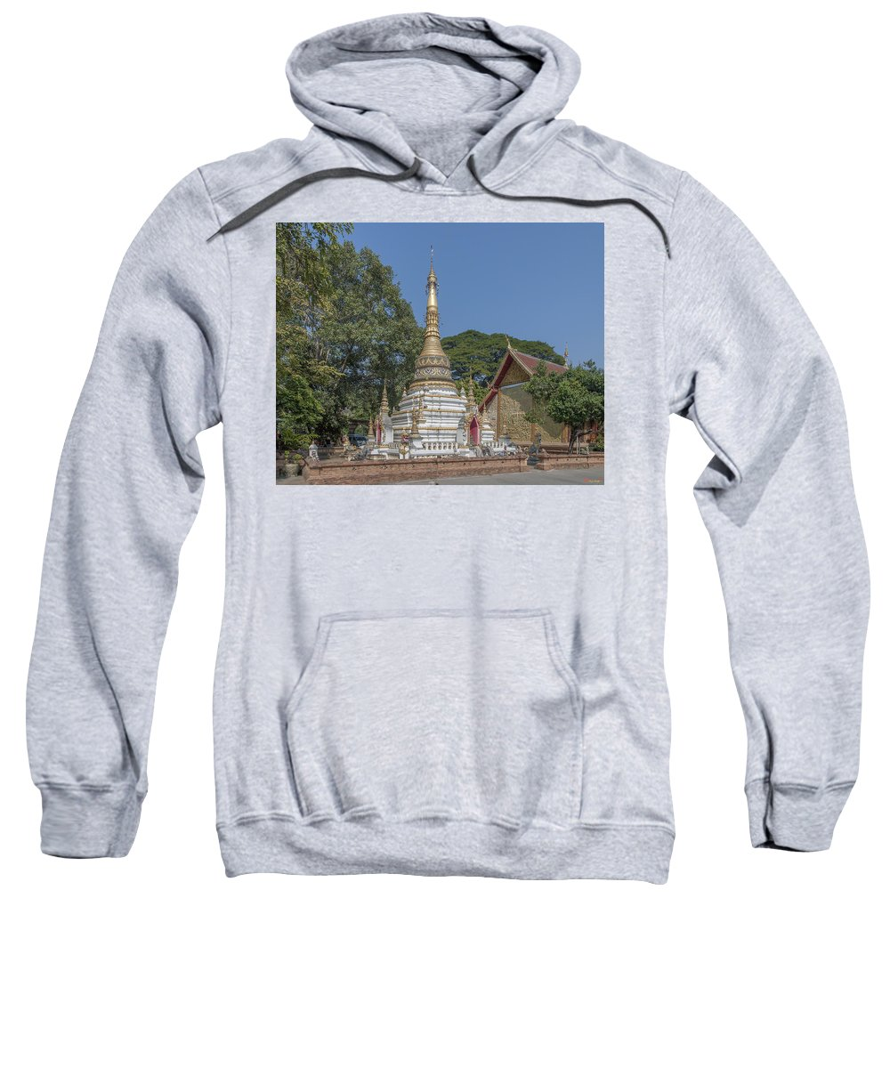 Scenic Sweatshirt featuring the photograph Wat Chai Monkol Phra Chedi Dthcm0859 by Gerry Gantt