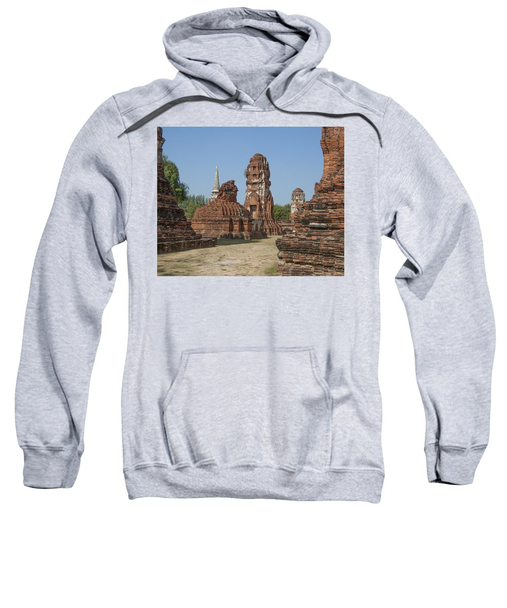 Scenic Sweatshirt featuring the photograph Wat Mahathat Prangs And Chedi Dtha0231 by Gerry Gantt