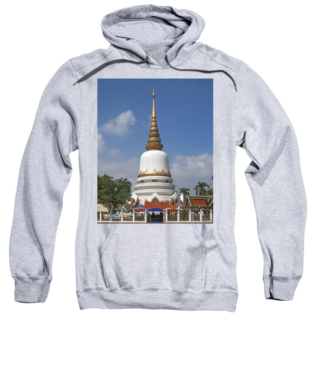 Bangkok Sweatshirt featuring the photograph Wat Phrasri Mahathat Phra Chedi Srimahatha Dthb1473 by Gerry Gantt