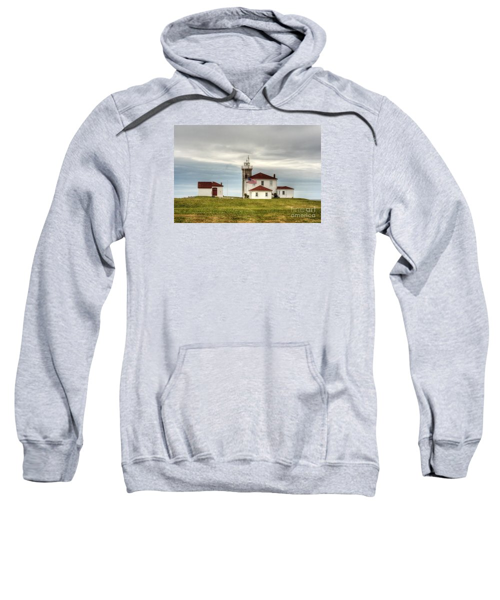 New England Sweatshirt featuring the photograph Watch Hill Lighthouse by Marcel J Goetz Sr