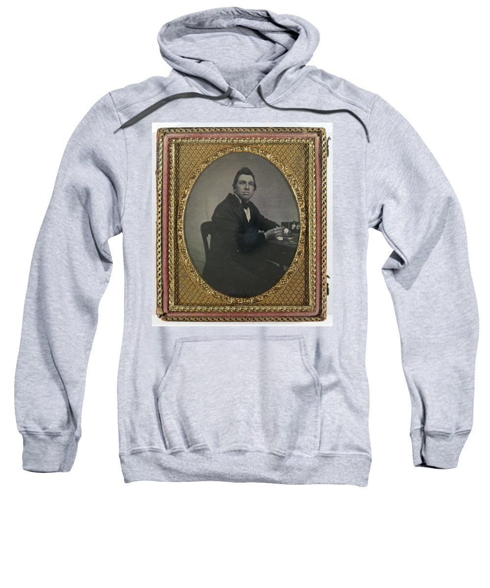 1850 Sweatshirt featuring the painting Watchmaker, C1850 by Granger