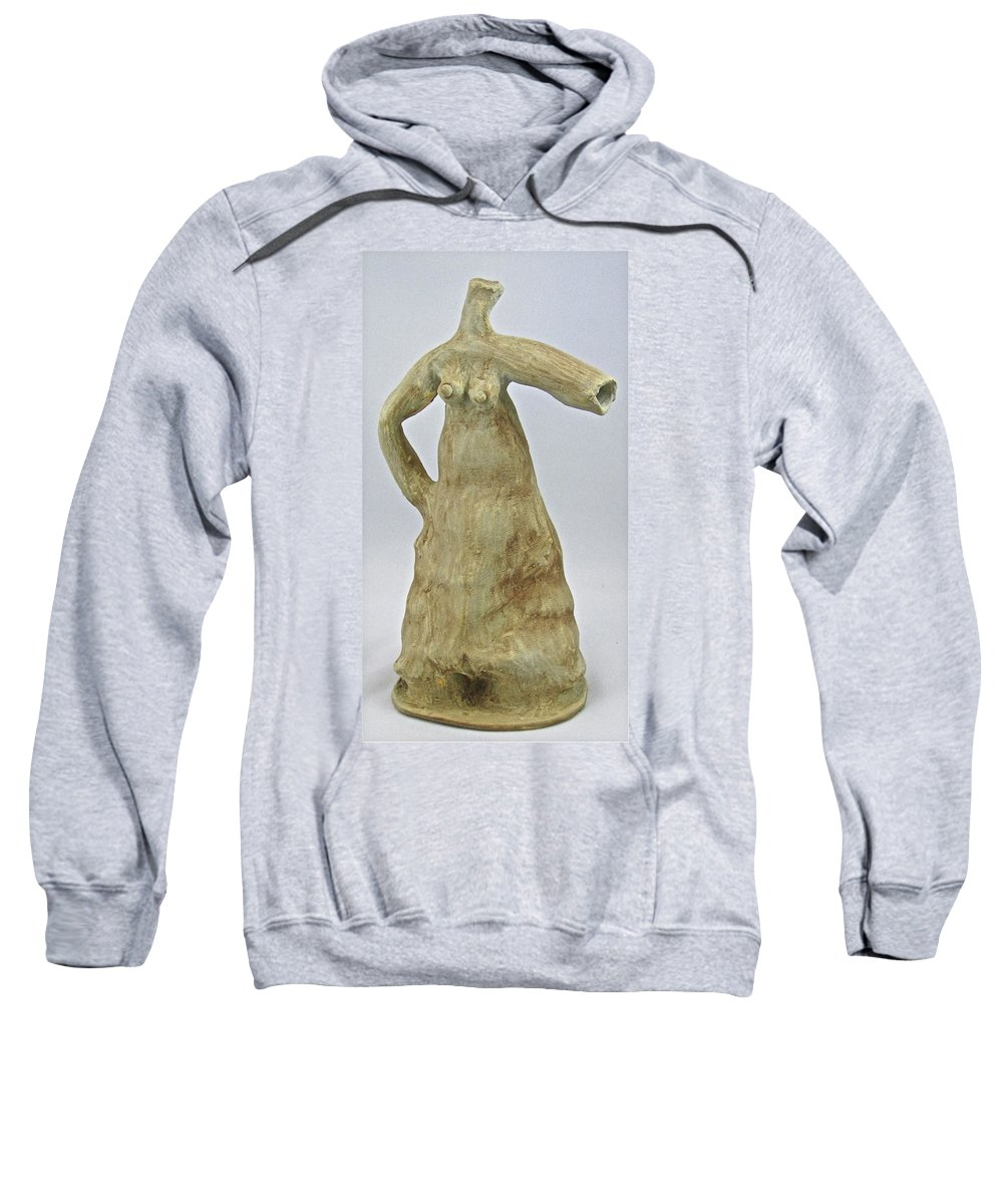 Female Form Sweatshirt featuring the sculpture Water Dress by Mario MJ Perron