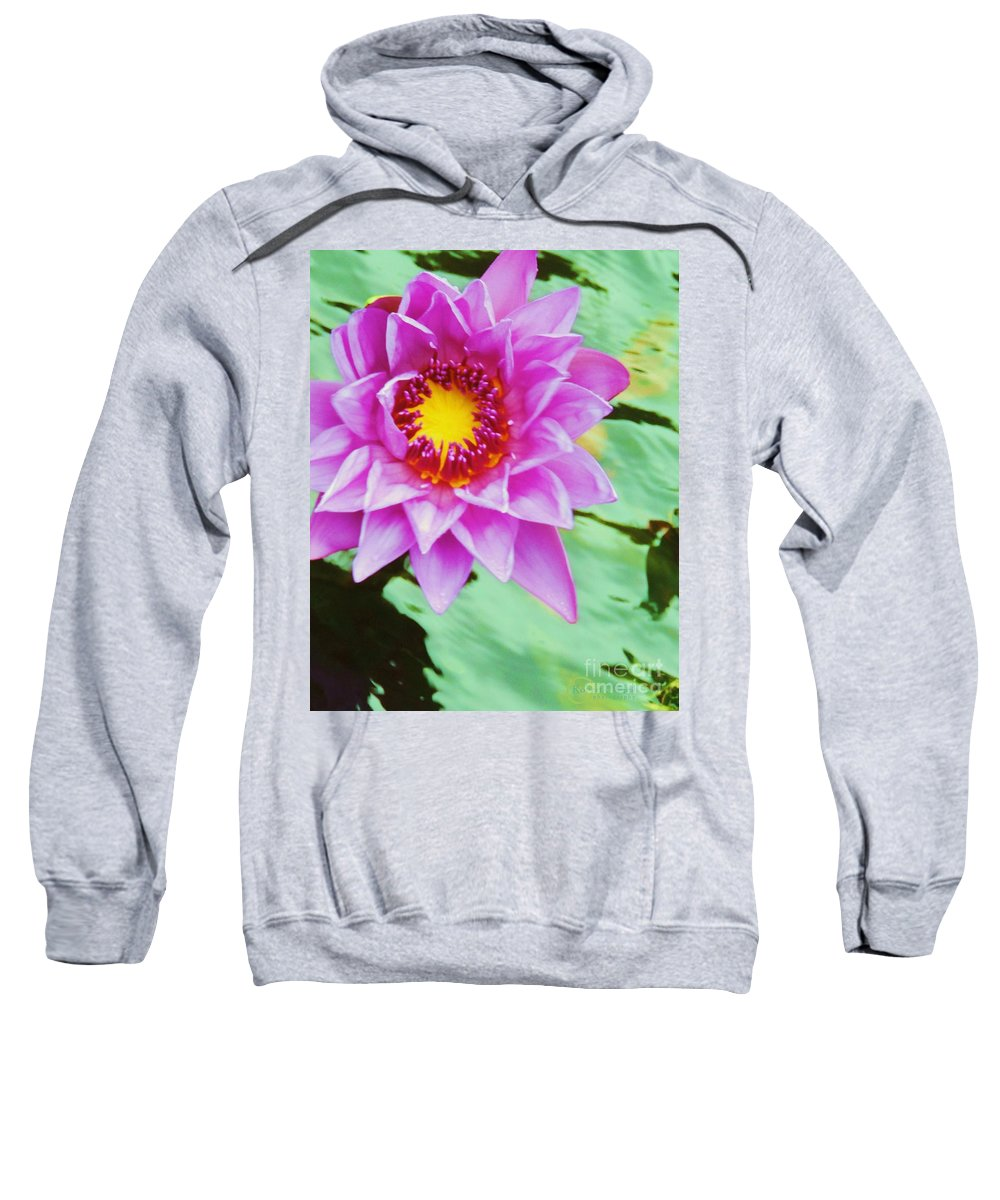 Water Lily Sweatshirt featuring the photograph Water Lilies 003 by Robert ONeil