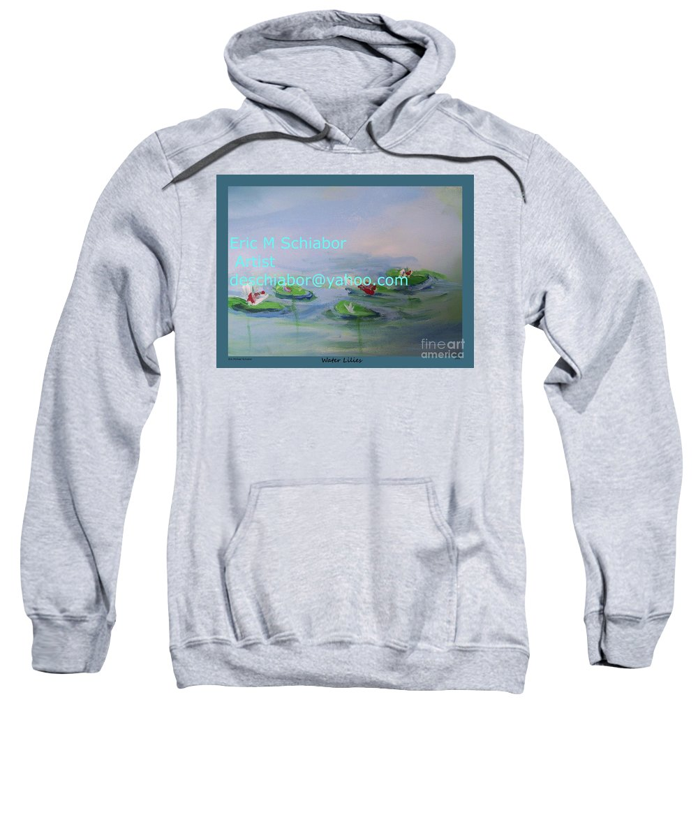 Water Lilies Sweatshirt featuring the painting Water Lilies Print by Eric Schiabor