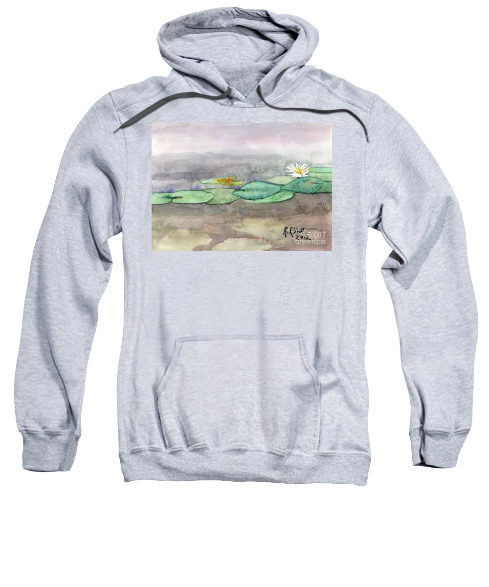 Acrylic Prints Sweatshirt featuring the painting Water Lilly by John Herzog