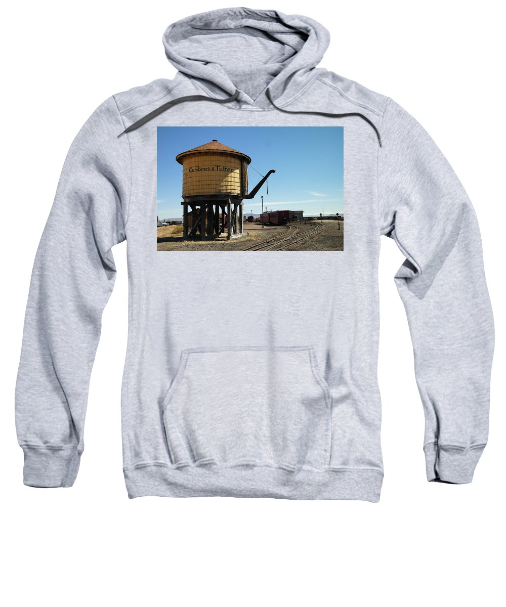 San Antonito Sweatshirt featuring the photograph Water Tower by Jeff Swan