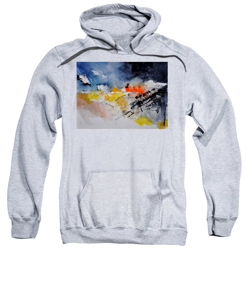 Abstract Sweatshirt featuring the painting Watercolor 212132 by Pol Ledent