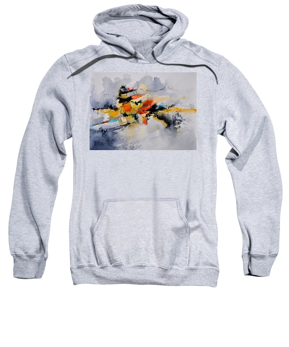 Abstract Sweatshirt featuring the painting Watercolor 212142 by Pol Ledent