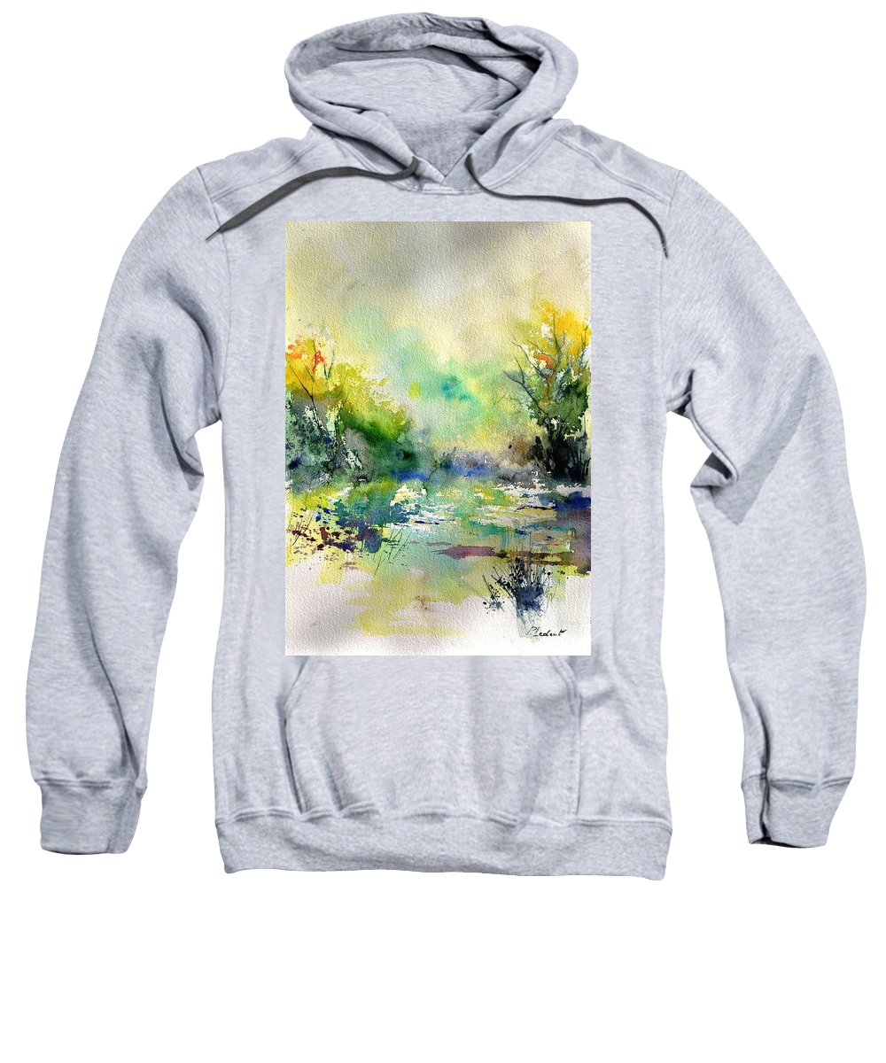 Lanscape Sweatshirt featuring the painting Watercolor 45319041 by Pol Ledent
