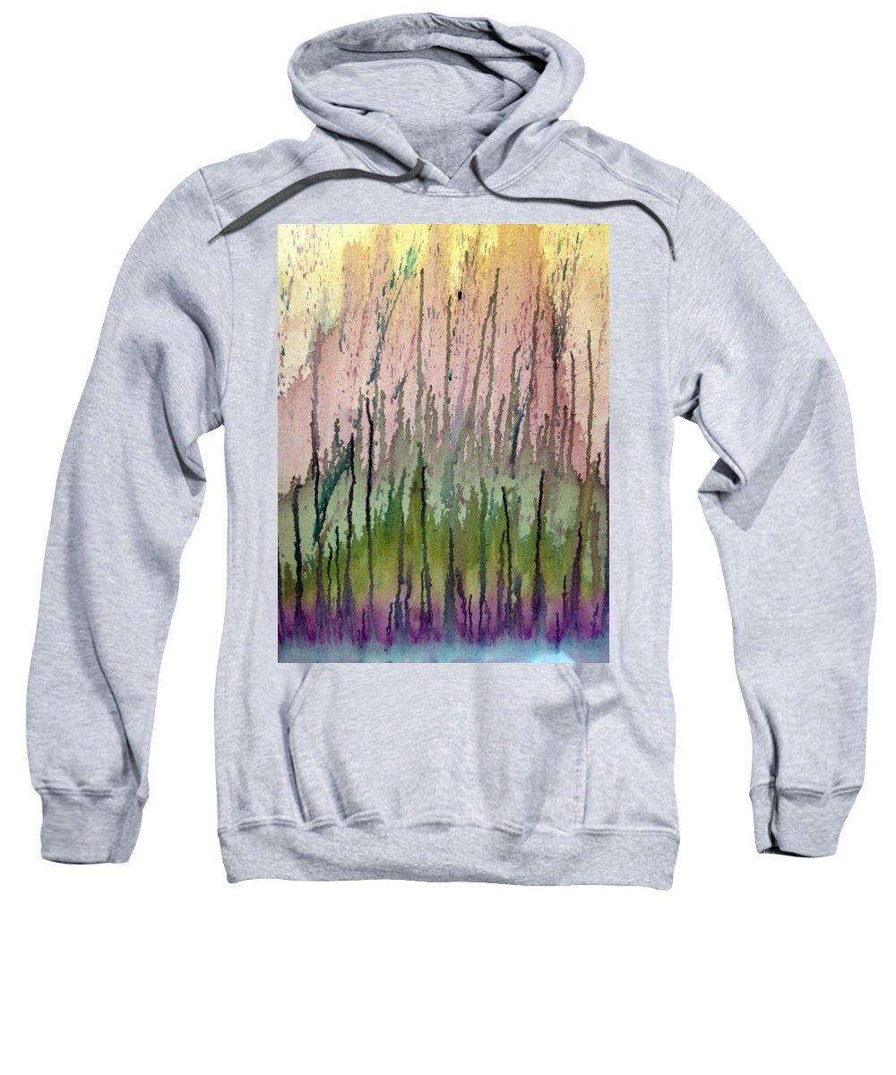 Water Sweatshirt featuring the painting Watercolors Running by Lisa Stanley