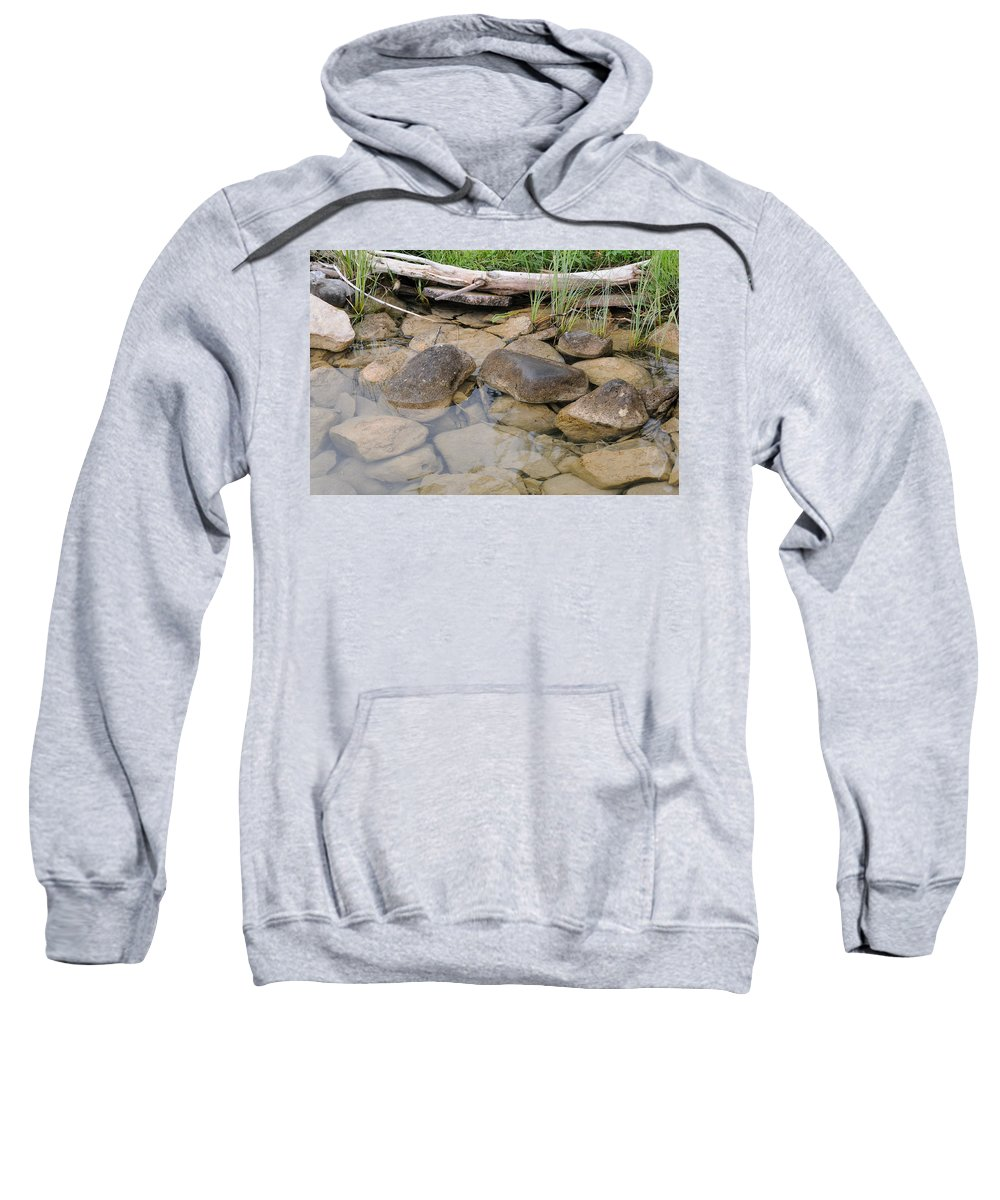 Landscape Sweatshirt featuring the photograph Water's Edge by Scott Angus