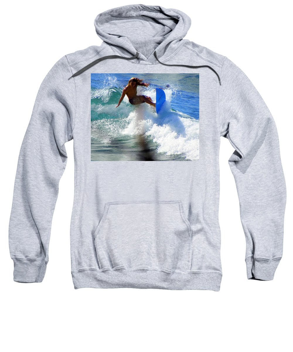 Surfers Sweatshirt featuring the photograph Wave Rider by Karen Wiles