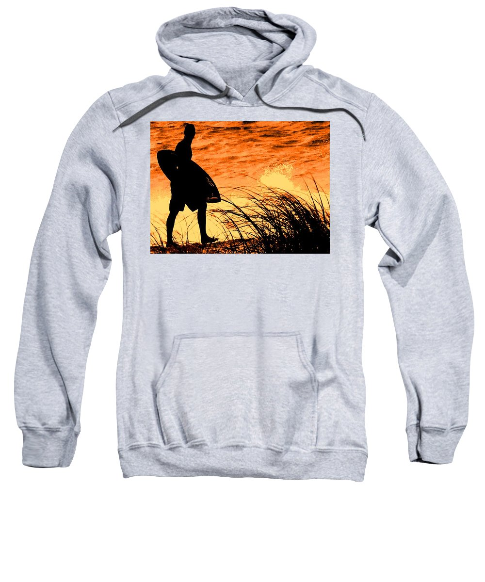 Florida Sweatshirt featuring the photograph Wave Search by Ian MacDonald